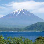 富士五湖の一つ 本栖湖からの富士山は千円札にも描かれています。